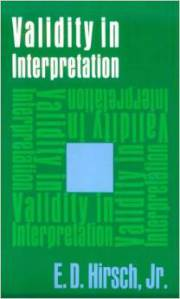 hirsch validity in interpretation